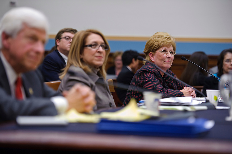 WASHINGTON, DC- Jan. 20: Stuart L. Weinstein, of the Health Coalition on Liability and Access, Joanne Doroshow, of the Center for Justice and Democracy, and Ardis Hoven, chairwoman of the Board of Trustees for the American Medical Association, testify during the House Judiciary hearing on medical liability issues. (Photo by Scott J. Ferrell/Congressional Quarterly)
