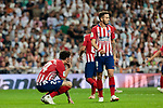 Atletico de Madrid's Jose Maria Gimenez (L) and Saul Niguez (R) during La Liga match between Real Madrid and Atletico de Madrid at Santiago Bernabeu Stadium in Madrid, Spain. September 29, 2018. (ALTERPHOTOS/A. Perez Meca)