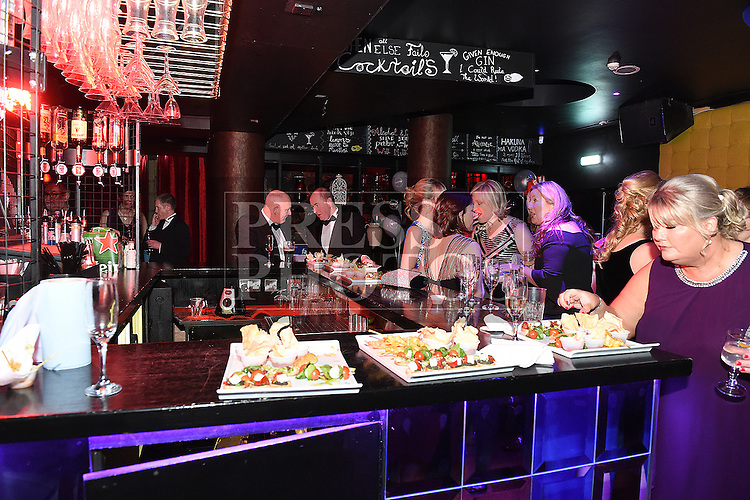ABACAS Valentine Ball 2017 drinks reception at Earth Night Club, Westcourt Hotel Drogheda. Photo:Colin Bell/pressphotos.ie