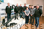 Front l-r  Phil Curran, John Moriarty, Donal Coppinger and John Moriarty. Back l-r  Laurence Dunne, JP Brick, Stephen O'Sullivan and Liam Doyle who are all part  of the Tralee Bay Heritage Association. The Anchor of the Aud Will be on display in The  Blennerville Windmill from now until the end of November.