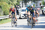 Gorka Izaguirre (ESP) Movistar Team and Giovanni Visconti (ITA) Bahrain-Merida watch each other near the end of Stage 8 of the 100th edition of the Giro d'Italia 2017, running 189km from Molfetta to Peschici, Italy. 1th May 2017.<br /> Picture: LaPresse/Fabio Ferrari | Cyclefile<br /> <br /> <br /> All photos usage must carry mandatory copyright credit (&copy; Cyclefile | LaPresse/Fabio Ferrari)