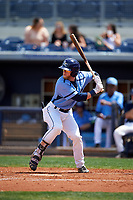 Charlotte Stone Crabs center fielder Jake Fraley (23) at bat during a game against the Lakeland Flying Tigers on April 16, 2017 at Charlotte Sports Park in Port Charlotte, Florida.  Lakeland defeated Charlotte 4-2.  (Mike Janes/Four Seam Images)