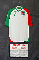 Craig Bellamys' 2007/08 Wales third shirt is displayed at The Art of the Wales Shirt Exhibition at St Fagans National Museum of History in Cardiff, Wales, UK. Monday 11 November 2019