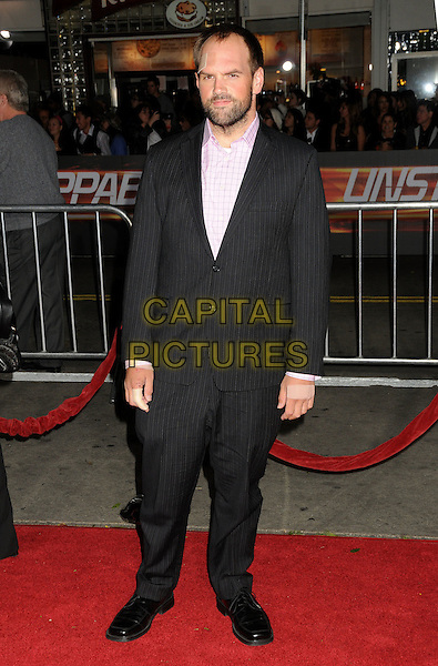 "ETHAN SUPLEE.""Unstoppable"" Los Angeles Premiere held at the Regency Village Theatre, Westwood, California, USA..October 26th, 2010.full length beard facial hair plaster injured injury forehead face pink shirt black suit.CAP/ADM/BP.©Byron Purvis/AdMedia/Capital Pictures."