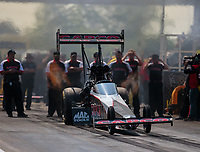Jun 2, 2018; Joliet, IL, USA; NHRA top fuel driver Billy Torrence during qualifying for the Route 66 Nationals at Route 66 Raceway. Mandatory Credit: Mark J. Rebilas-USA TODAY Sports