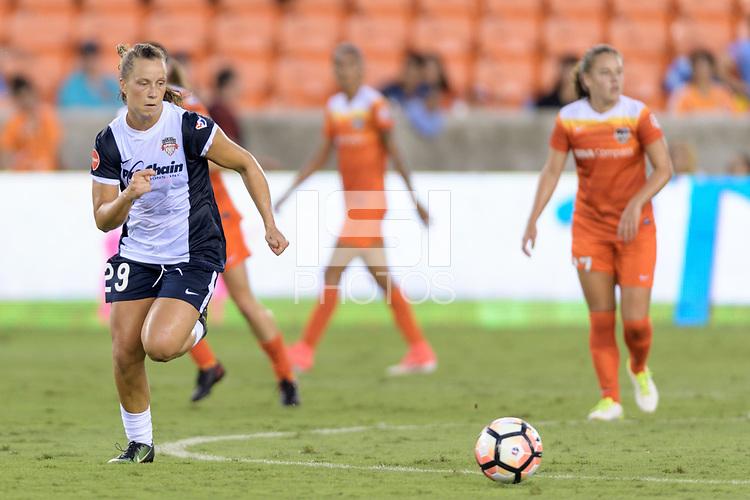 Houston, TX - Saturday July 15, 2017: Meggie Dougherty Howard during a regular season National Women's Soccer League (NWSL) match between the Houston Dash and the Washington Spirit at BBVA Compass Stadium.