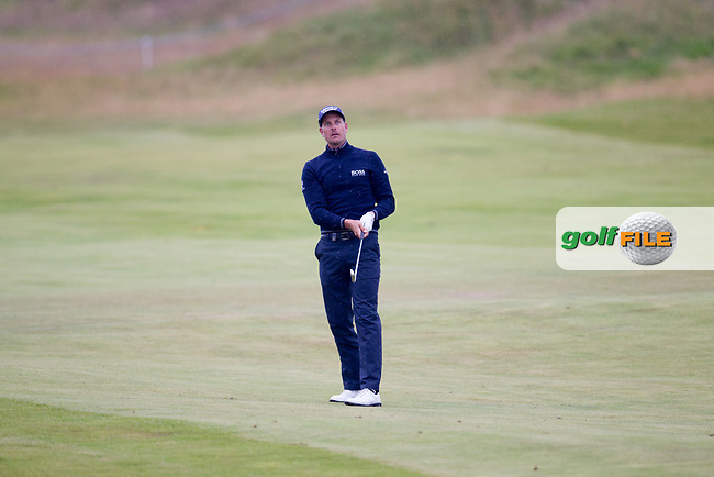 Henrik Stenson (SWE) on the 18th during round 2 of the Aberdeen Asset Management Scottish Open 2017, Dundonald Links, Troon, Ayrshire, Scotland. 14/07/2017.<br /> Picture Fran Caffrey / Golffile.ie<br /> <br /> All photo usage must carry mandatory copyright credit (&copy; Golffile | Fran Caffrey)
