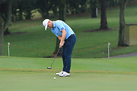 Alex Noren (Europe) on the 7th green during the Saturday Foursomes of the Eurasia Cup at Glenmarie Golf and Country Club on the 13th January 2018.<br /> Picture:  Thos Caffrey / www.golffile.ie