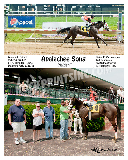 Apalachee Song winning at Delaware Park on 6/27/13
