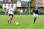 01.09.2019, Sportplatz Gretesch, Osnabrück, GER, FRLN, TSG 07 Burg Gretesch vs. TuS Bueppel <br /> im Bild<br /> <br /> v. li. im Zweikampf Angelina-Michelle Wunder (TuS Bueppel #14) und Kim Köhne / Koehne (TSG 07 Burg Gretesch #17)<br /> <br /> Foto © nordphoto / Paetzel
