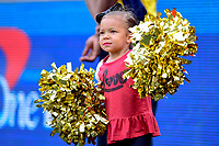 College Park, MD - SEPT 22, 2018: A young Maryland Terrapins cheerleader performs during game between Maryland and Minnesota at Capital One Field at Maryland Stadium in College Park, MD. The Terrapins defeated the Golden Bears 42-13 to move to 3-1 on the season. (Photo by Phil Peters/Media Images International)
