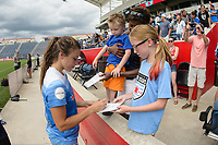 Bridgeview, IL - Saturday June 17, 2017: Fans, Sofia Huerta during a regular season National Women's Soccer League (NWSL) match between the Chicago Red Stars and the Washington Spirit at Toyota Park. The match ended in a 1-1 tie.