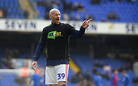 Ipswich Town's James Collins during the pre-match warm-up <br /> <br /> Photographer Hannah Fountain/CameraSport<br /> <br /> The EFL Sky Bet Championship - Ipswich Town v Birmingham City - Saturday 13th April 2019 - Portman Road - Ipswich<br /> <br /> World Copyright © 2019 CameraSport. All rights reserved. 43 Linden Ave. Countesthorpe. Leicester. England. LE8 5PG - Tel: +44 (0) 116 277 4147 - admin@camerasport.com - www.camerasport.com