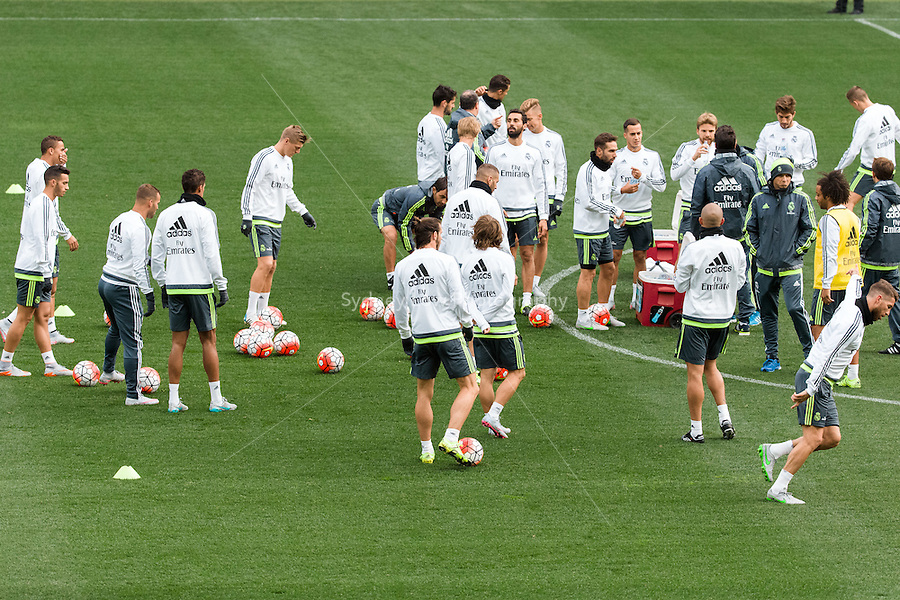Melbourne, 14 July 2015 - Open training session of Real Madrid before their match against AS Roma at the 2015 International Champions Cup in Melbourne, Australia. Photo Sydney Low/AsteriskImages.com