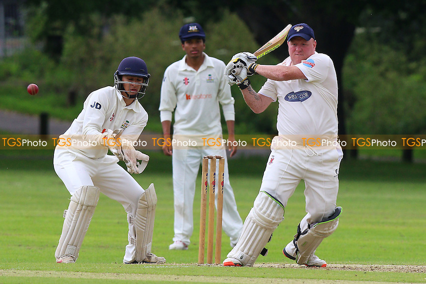 P Murray in batting action for Hornchurch during Hornchurch CC vs Wanstead and Snaresbrook CC, Shepherd Neame Essex League Cricket at Harrow Lodge Park on 18th June 2016