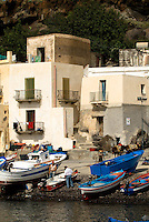 Fishing village of Alicudi, Eolie Islands, Sicily, Italy