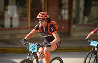 NWA Democrat-Gazette/BEN GOFF @NWABENGOFF<br /> Elisabeth Graham of Rogers starts in the category 2 women's race Sunday, July 16, 2017, from Basin Park in downtown Eureka Springs before making their way onto the singletrack at Lake Leatherwood City Park during cross country races on the final day of the 19th annual Fat Tire Festival.