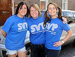 Sarah Black, Angela Fagan and Teresina Bell who took part in the Saint Vincent de Paul sponsored 5Km run. Photo: Colin Bell/pressphotos.ie