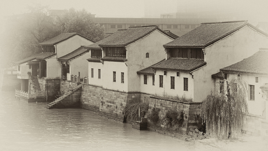 Restored Buildings Along The Grand Canal, Hangzhou (Hangchow).
