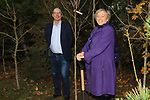 Éanna NÍ Lamhna of the Tree Council of Ireland with Colm Conyngham (Marketing and Public Relations Manager) planting a tree at the Bridgestone Balbriggan Service Centre, Unit 13 KVS Business Park, Balbriggan, Co. Dublin, Ireland on Friday 22nd November 2019.<br /> Picture:  Thos Caffrey / Newsfile<br /> <br /> All photo usage must carry mandatory copyright credit (© Newsfile | Thos Caffrey)