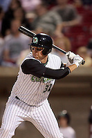 May 25, 2008: Dusty Napoleon (32) of the Kane County Cougars at bat against the Quad Cities River Bandits at Elfstrom Stadium in Geneva, IL. Photo by: Chris Proctor/Four Seam Images
