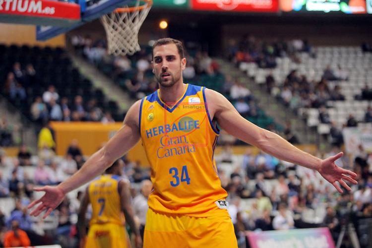 League ACB-ENDESA 2016/2017. Game: 28.<br /> Divina Seguros Joventut vs Herbalife Gran Canaria: 86-72.<br /> Pablo Aguilar.