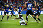 Chelsea Midfielder Victor Moses (L) fights for the ball with FC Internazionale Defender Danilo D'Ambrosio (C) during the International Champions Cup 2017 match between FC Internazionale and Chelsea FC on July 29, 2017 in Singapore. Photo by Weixiang Lim / Power Sport Images