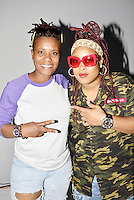 "LOS ANGELES,CA - OCTOBER 16: Rapper Da Brat and LaDon Quivette attend the ""Queen of The Ring"" Rap Battle at Ben Kitay Studios in Los Angeles, California on October 16, 2016. Credit: Koi Sojer/Snap'N U Photos/MediaPunch"