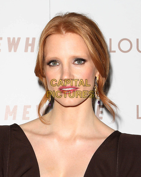 """JESSICA CHASTAIN.Premiere of """"Somewhere"""" held At The Arclight Theatres, Hollywood, CA, USA..December 7th, 2010.headshot portrait brown  .CAP/ADM/KB.©Kevan Brooks/AdMedia/Capital Pictures."""