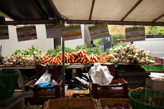 Local Paris Market.<br /> <br /> Kristen Beddard, 29, of The Kale Project, in Paris, France.  Kevin German / Luceo