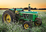This John Deere 2640 was picture perfect sitting near the road in a lovely field when I came upon it at sunset - perfect!