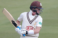 Ollie Pope of Surrey leaves the ball and it passes by his helmet during Surrey CCC vs Essex CCC, Specsavers County Championship Division 1 Cricket at the Kia Oval on 14th April 2019
