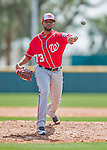 29 February 2016: Washington Nationals pitcher Felipe Rivero on the mound during an inter-squad pre-season Spring Training game at Space Coast Stadium in Viera, Florida. Mandatory Credit: Ed Wolfstein Photo *** RAW (NEF) Image File Available ***