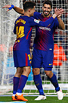League Santander 2017/2018. Game: 25.<br /> FC Barcelona vs Girona FC: 6-1.<br /> Coutinho &amp; Luis Suarez.