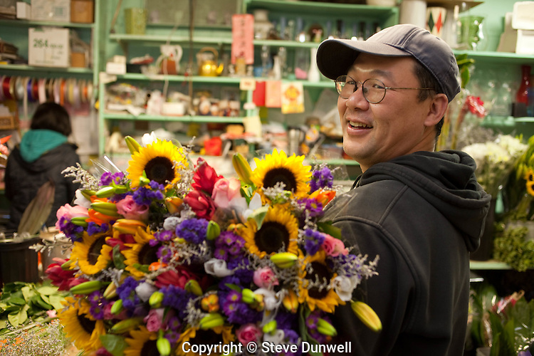 Thanh at GT Florist, Bay Village, Boston, MA