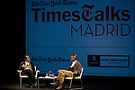 21.09.2012.The New York Times in collaboration with the Department of Arts of the City of Madrid presented, for the first time in Madrid, a series of TimesTalks at the Teatro Fernan Gomez, with prominent international personalities from film, theater and music in conversation with journalists from the New York Times. In the image (L-R) Matt Wolf (Journalist of The New York Times) and Jeremy Irons (Alterphotos/Marta Gonzalez)