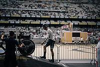 European TT champion Jonathan Castroviejo (ESP/Movistar) walking up the startbox<br /> <br /> 104th Tour de France 2017<br /> Stage 20 (ITT) - Marseille › Marseille (23km)