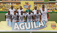 BUCARAMANGA -COLOMBIA, 14-08-2016. Formación d Deportes Tolima .Acción de juego entre Bucaramanga y Tolima   durante encuentro  por la fecha 8 de la Liga Aguila II 2016 disputado en el estadio Alfonso ópez./ Team of Tolima .Actions game between  Bucaramanga and  Tolima during match for the date 8 of the Aguila League II 2016 played at Alfonso Lopez stadium . Photo:VizzorImage / Duncan Bustamante / Contribuidor