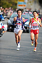 (L to R) Genki Yagisawa (Meiji-Univ), Kosei Yamaguchi(Josai-Univ),.JANUARY 2, 2012 - Athletics : The 88th Hakone Ekiden Race the 4th section in Kanagawa, Japan. (Photo by Jun Tsukida/AFLO SPORT)