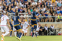 STANFORD, CA - June 27, 2015: The California Clasico game. The San Jose Earthquakes vs LA Galaxy match at Stanford Stadium in Stanford, CA. Final score SJ Earthquakes 3, LA Galaxy 1.