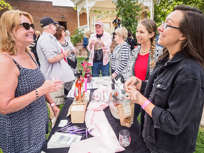 A cool summer evening with the Amador Vintners' Drink Pink (Ros&eacute; wine) tasting event at the Plymouth Park, Amador County, Calif.<br /> <br /> A local celebration in support of National Ros&eacute; Day, annually the 2nd Saturday in June.