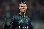 Cristiano Ronaldo of Juventus pictured during the warm up before the Coppa Italia match at Giuseppe Meazza, Milan. Picture date: 13th February 2020. Picture credit should read: Jonathan Moscrop/Sportimage