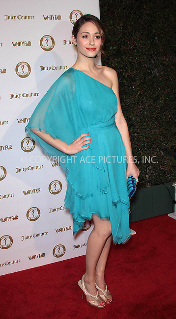 WWW.ACEPIXS.COM . . . . .  ..... . . . . US SALES ONLY . . . . .....February 20 2012, LA....Emmy Rossum at the Vanity Fair magazine and Juicy Couture 'Vanities' Party held at Siren Studios on February 20 2012 in Hollywood, Los Angeles ....Please byline: FAMOUS-ACE PICTURES... . . . .  ....Ace Pictures, Inc:  ..Tel: (212) 243-8787..e-mail: info@acepixs.com..web: http://www.acepixs.com