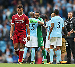 Liverpool's Alex Oxlade-Chamberlain looks on dejected at the final whistle during the premier league match at the Etihad Stadium, Manchester. Picture date 9th September 2017. Picture credit should read: David Klein/Sportimage