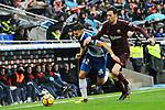 League Santander 2017-2018 - Game: 22.<br /> RCD Espanyol vs FC Barcelona: 1-1.<br /> Marc Navarro vs Sergio Busquets.