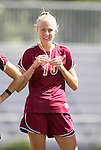02 October 2011: Virginia Tech's Brittany Popko. The Duke University Blue Devils defeated the Virginia Tech Hokies 1-0 at Koskinen Stadium in Durham, North Carolina in an NCAA Division I Women's Soccer game.