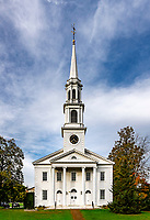 White church exterior detail, Williamstown, Massachusetts, USA.