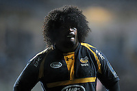 Ashley Johnson of Wasps looks on during a break in play. European Rugby Champions Cup match, between Wasps and Bath Rugby on December 13, 2015 at the Ricoh Arena in Coventry, England. Photo by: Patrick Khachfe / Onside Images