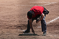 24 May 2009: The home plate umpire is seen during the 2009 challenge de France, a tournament with the best French baseball teams - all eight elite league clubs - to determine a spot in the European Cup next year, at Montpellier, France. Senart wins 8-5 over La Guerche.