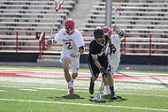 College Park, MD - May 14, 2017: Bryant Bulldogs Cody O'Donnell (32) gets the groundball during the NCAA first round game between Bryant and Maryland at  Capital One Field at Maryland Stadium in College Park, MD.  (Photo by Elliott Brown/Media Images International)